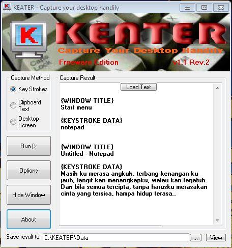 Klik untuk download KEATER